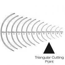 Regular Curved (3/8 Circle) Triangular Cutting Needle