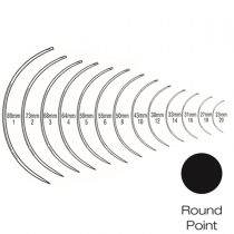 CURVED ROUND SUTURE NEEDLE