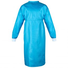 Washable surgical gown (blue)
